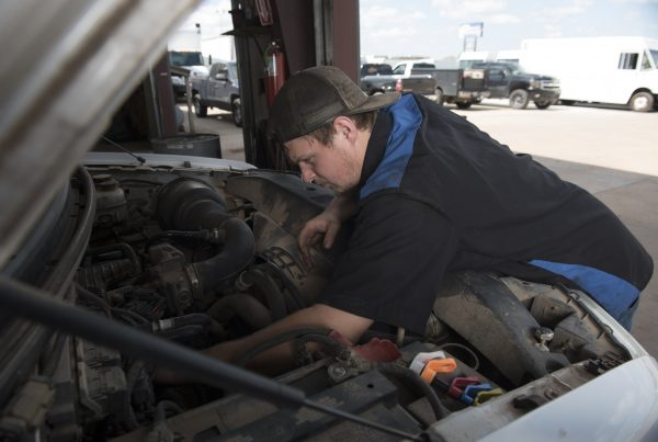 truck mechanic at work